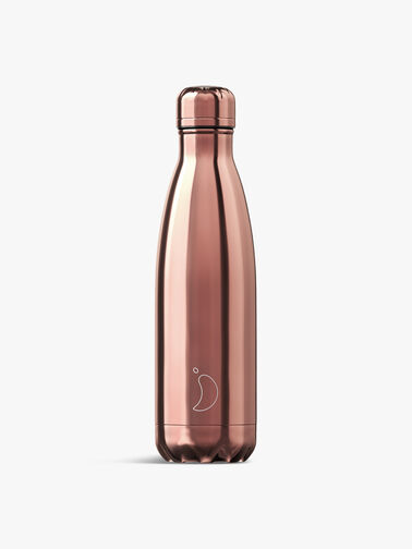 Chrome Rose Gold Water Bottle 500ml