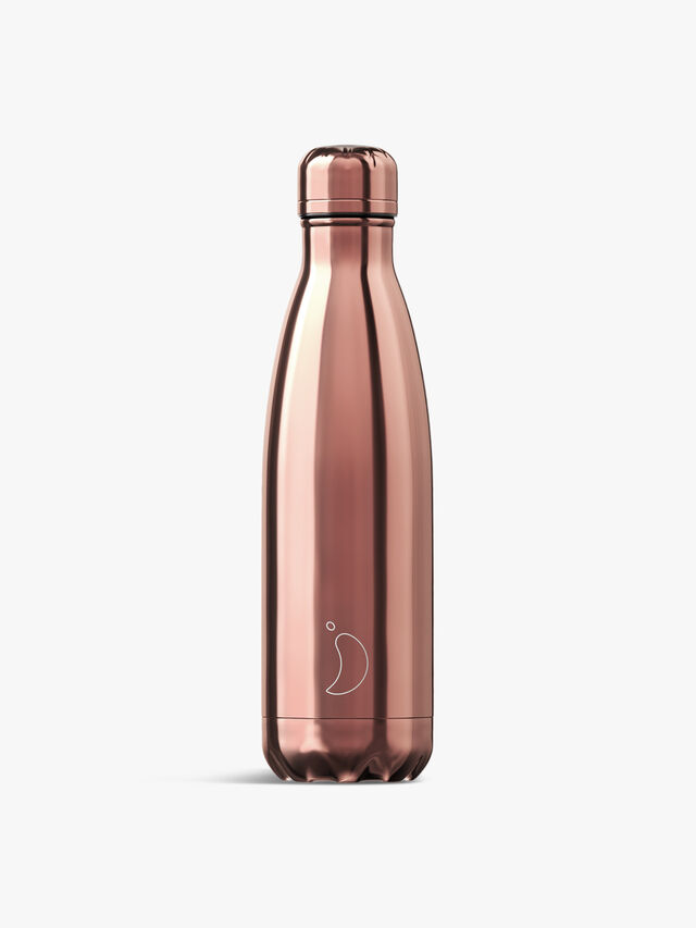Chrome Rose Gold Water Bottle