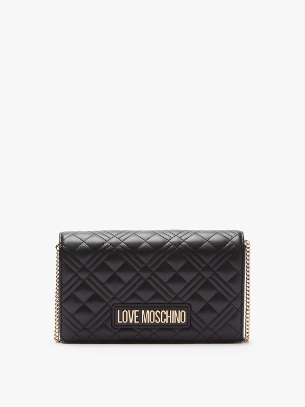 Quilted Crossbody with Chain Strap