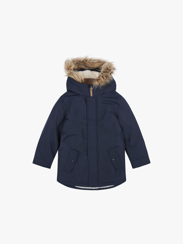 Padded Jacket With Faux Fur