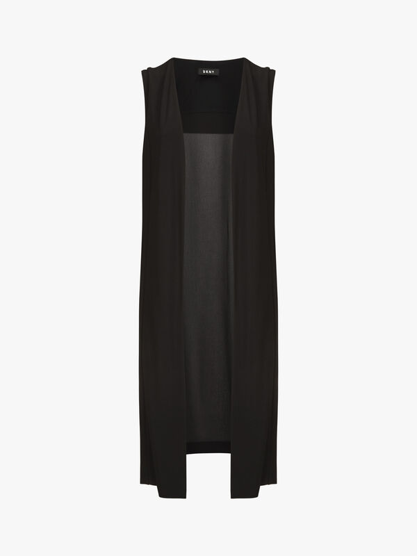 Sleeveless Vest with Sheer Back