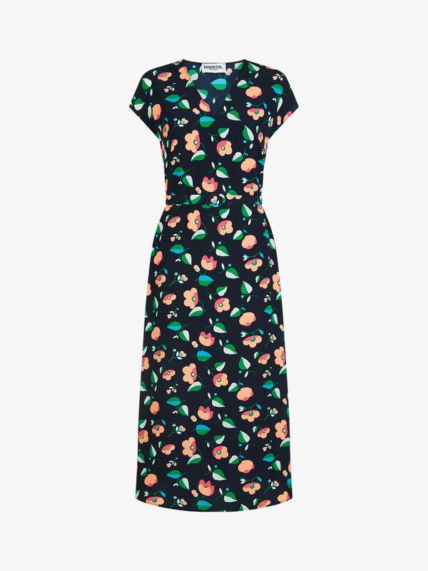 Wide Midi Dress