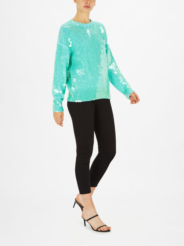 Sequin Long Sleeve BF Sweater