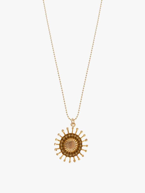 Sunburst Long Chain Necklace