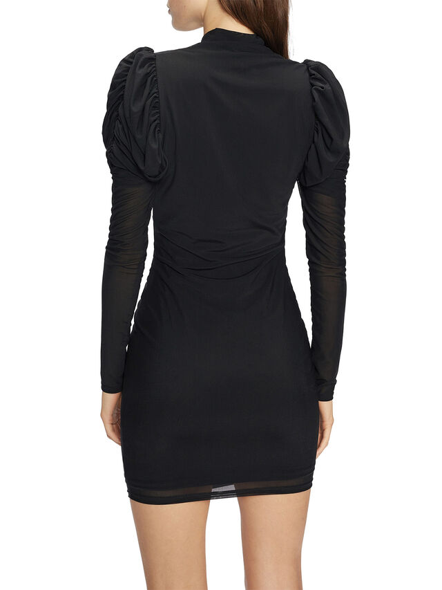 DUNLIN Mesh Bodycon with Rouching