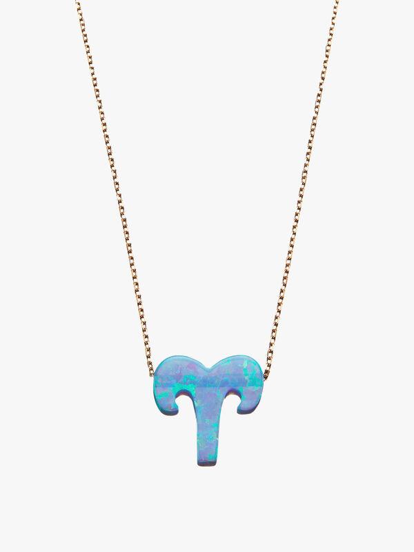 Aries Opal Zodiac Necklace