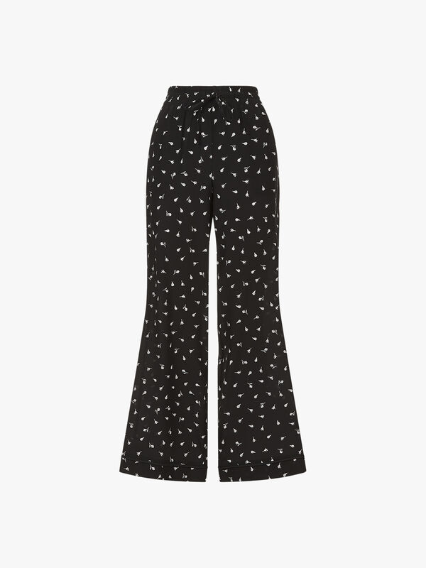 Printed Wide Trouser