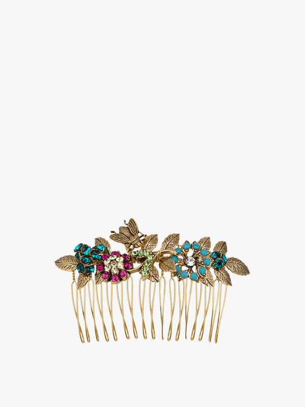 Floral and Bug Comb