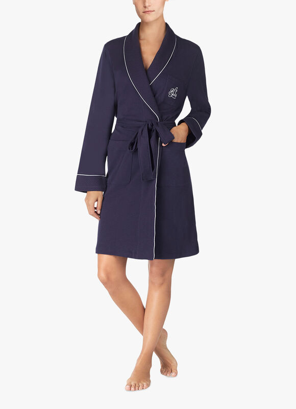 Quilted Shawl Collar Robe