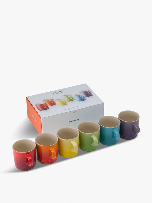 Rainbow Set of 6 Mugs 350ml