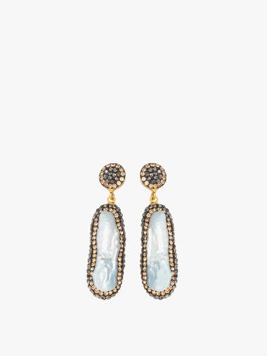 Double Sided Pearl Earrings