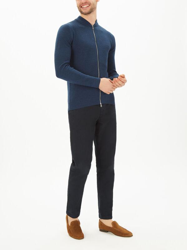 6.Singular Knitted Zip Thru Jumper
