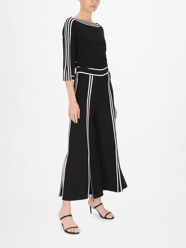 Wide Leg Trouser with Front Splits