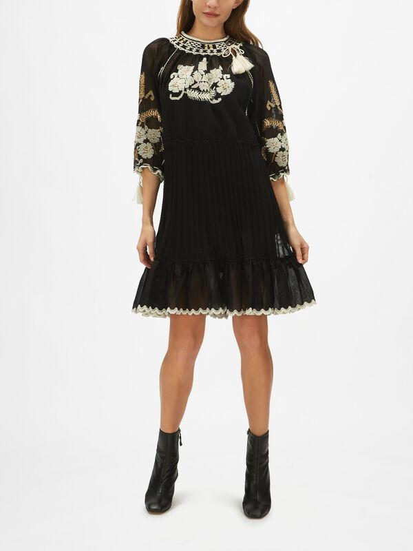 Embroidered Tassel Dress