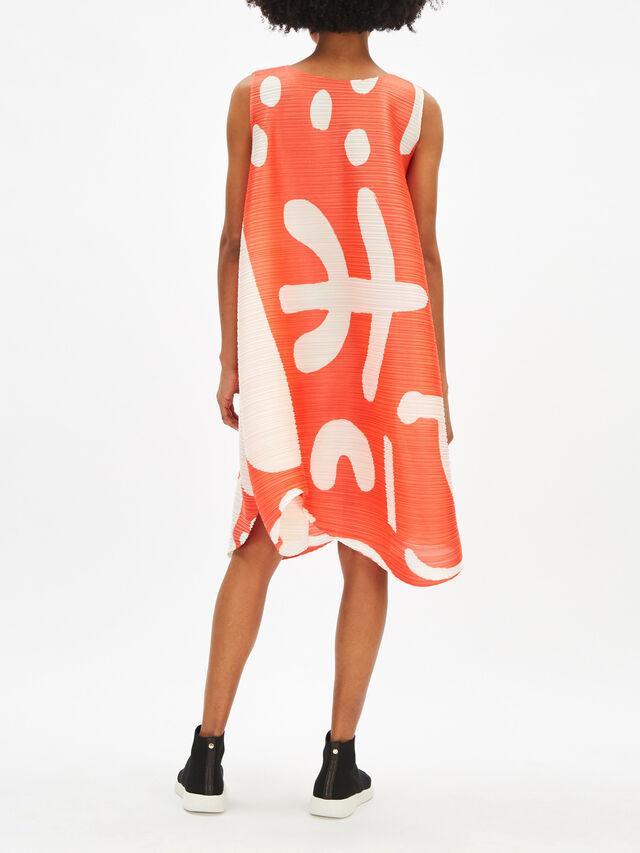 Voluminous Printed Dress