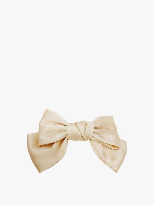 Large Bow Silk Hair Clip