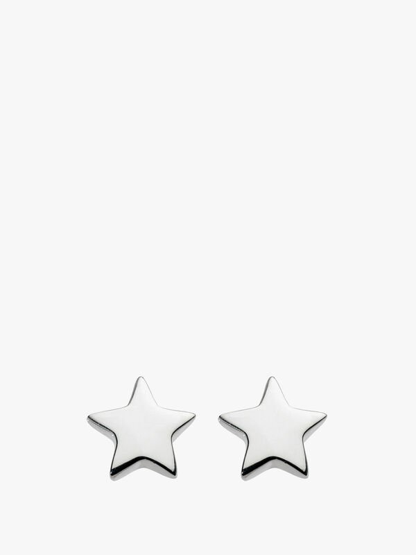 Solid Star Stud Earrings