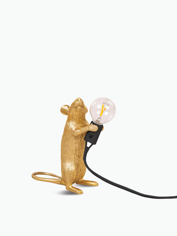 Standing Gold Mouse Lamp