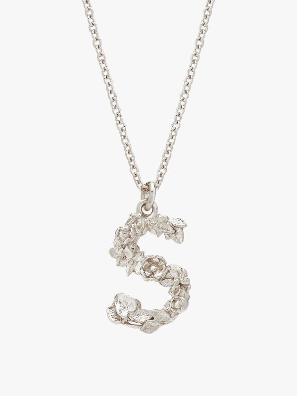 Floral Letter S Necklace
