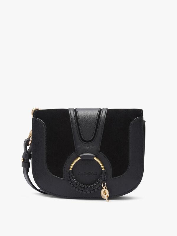 Hana Medium Suede Leather Crossbody Bag