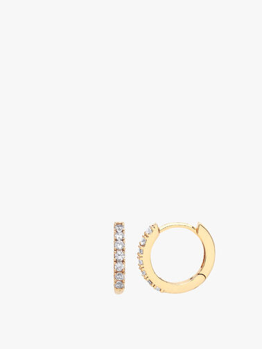 Pave Set Hoop Earrings