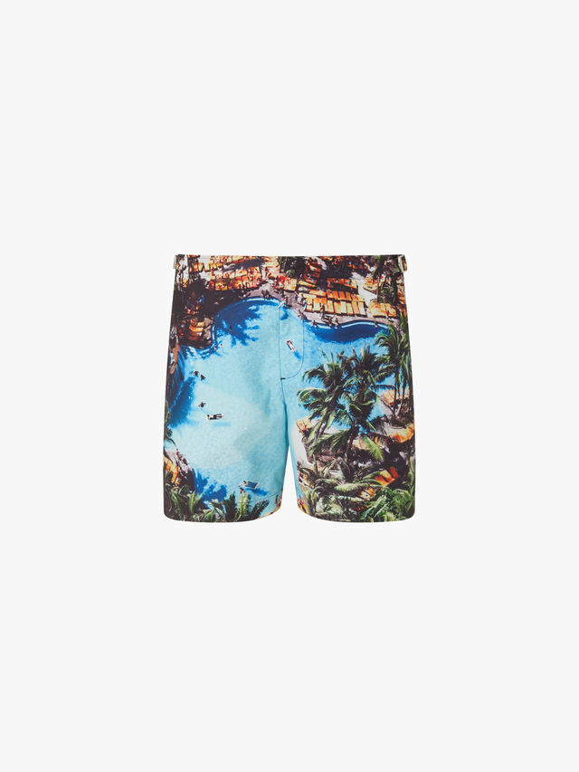 Bulldog Pooling Around Mid-Length Swim Shorts