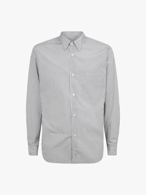 Washed Basic Stripe Shirt