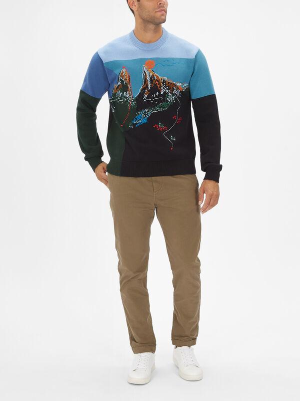 Mountain Embroidered Sweatshirt