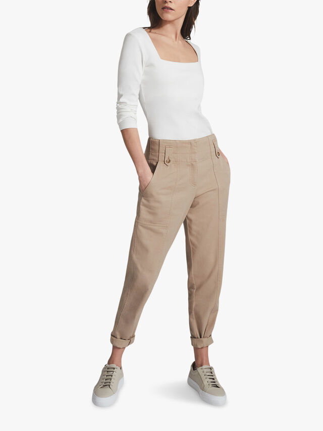 BRADIE Cotton Tapered Cargo Trousers
