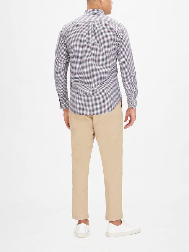 3 Colour Gingham Button Down Shirt