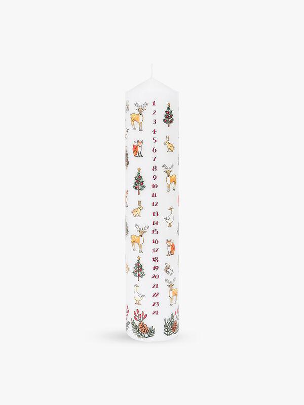 Winter Wildlife Pillar Advent Candle