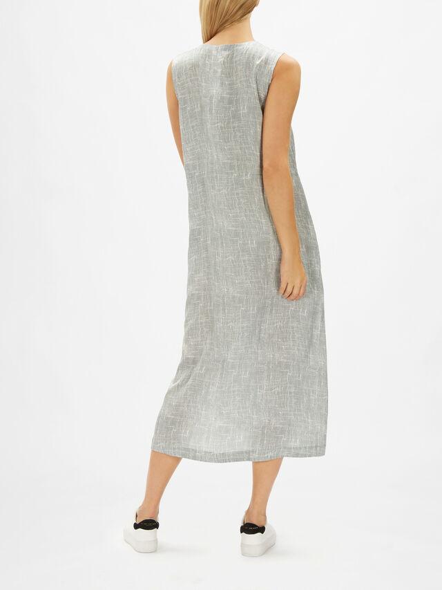 Round Neck Button Down Dress