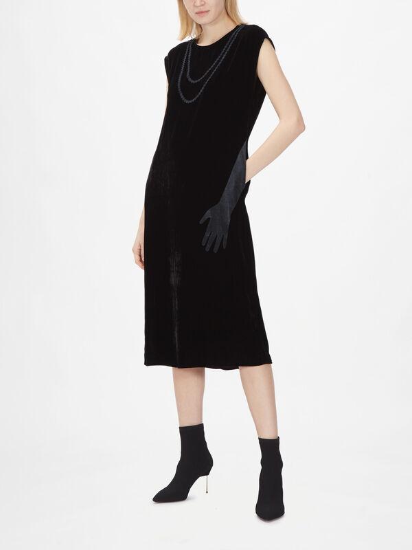 Velvet Hand Print Dress