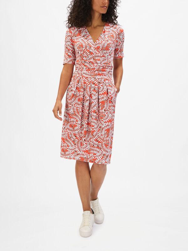 Petal Print Jersey Dress