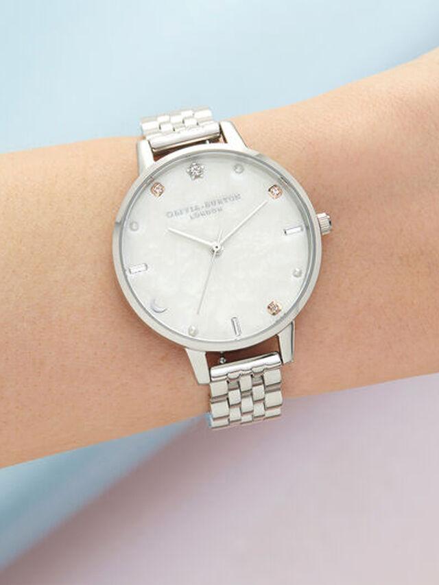 Celetial Silver Bracelet Watch