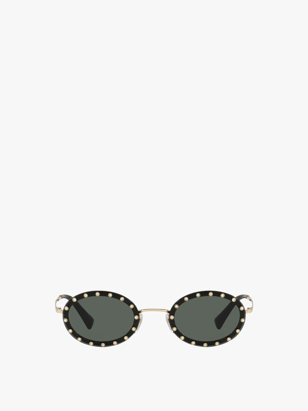 Stud Oval Sunglasses