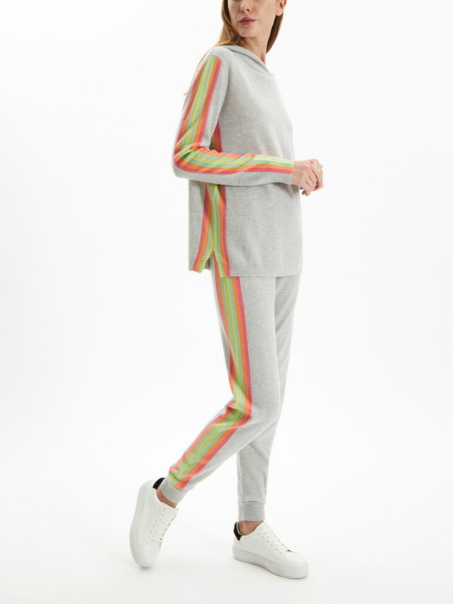Rainbow Stripe Hoody