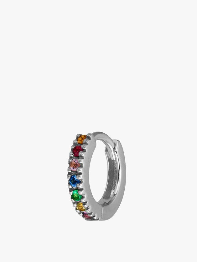 Single Rainbow Huggie Hoop