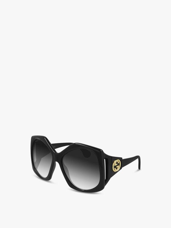 Square Fork Detail Sunglasses