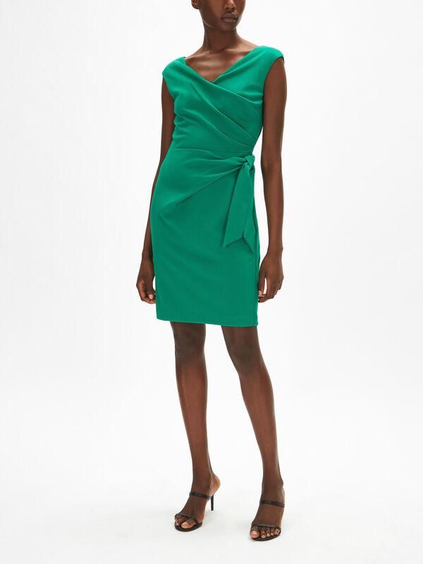 Cleonie Cap Sleeve Cocktail Dress