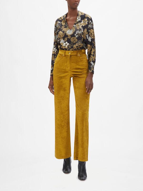 Olivina Corduroy Wide Leg Pant