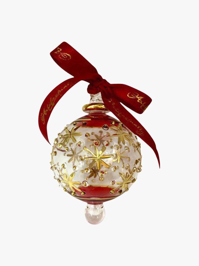 Medium Starburst Red Ornament