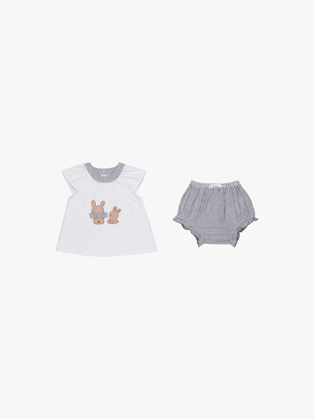 Bunny & Stripe Bubble Set