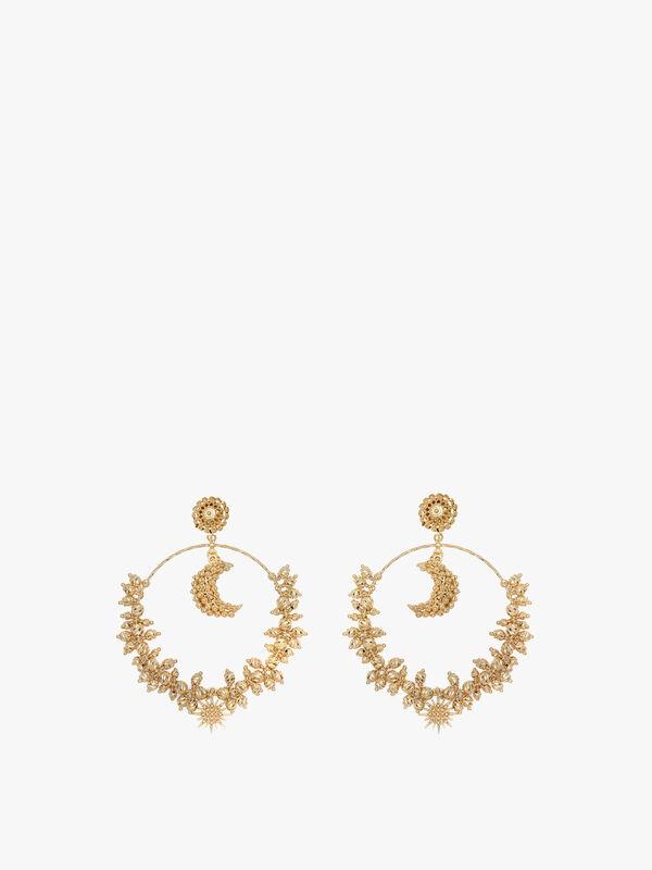 Luna Mega Hoop Earrings