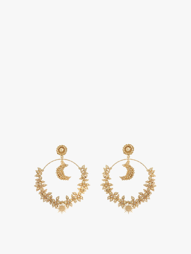 Luna Mega Hoop Earrings