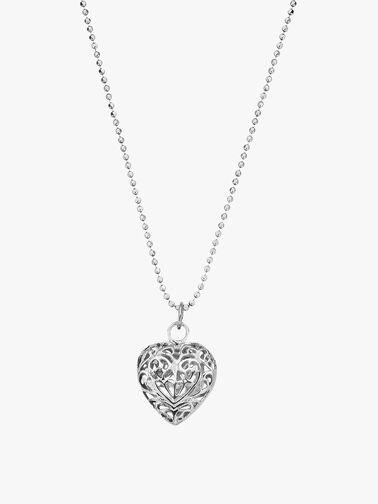 Filigree Heart Chain Necklace