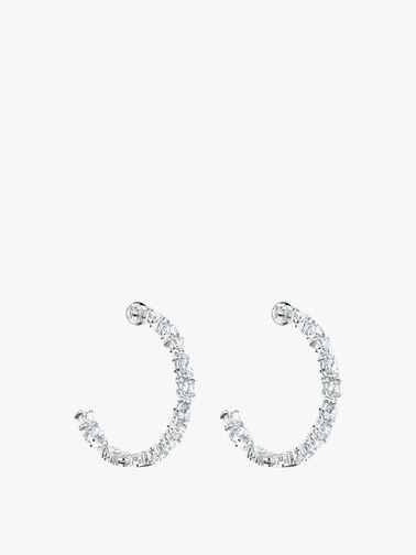 Tennis Deluxe Mixed Hoop Pierced Earrings