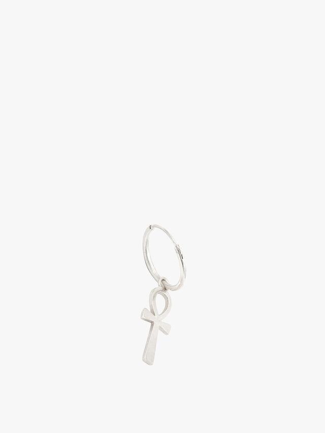 Silver Ankh Earring