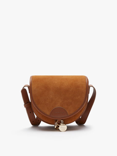Mara Suede Leather Saddle Crossbody Bag