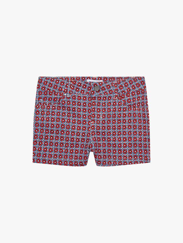 Floral Print 5 Pocket Shorts